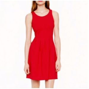 J. CREW Glam Red Fit & Flare Sleeveless Dress